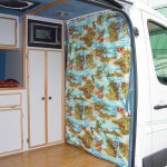 Surfing Van Old School Privacy Drape