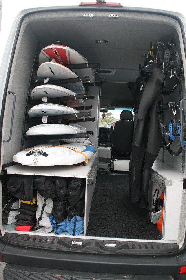 The Ultimate Wind Surfing Van